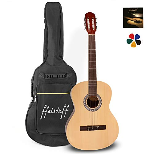 C40 klassieke gitaar met gevoerde tas, reservesnaren en plectrums