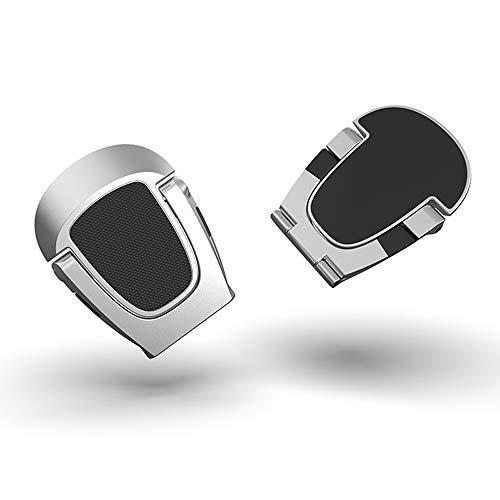 FACATH - Soporte invisible plegable para ordenador portátil, 2 piezas, mini almohadilla de refrigeración de aluminio, antideslizante,...
