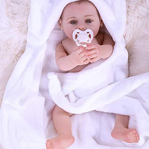 Muñecas de Renacimiento de Vinilo de Silicona de Cuerpo Completo de 17'Que Pueden bañarse con el bebé Navidad Día del niño Niños Niñas Niños pequeños Niños Año de Navidad Cumpleaños Playmate Regalos