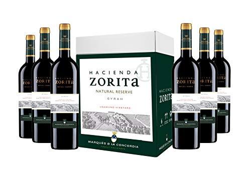 Caja de Hacienda Zorita Natural Reserve Syrah Vino tinto - 6 botellas x 750 ml. - 4500 ml