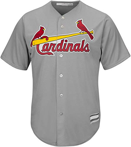 Outerstuff MLB Youth 8-20 Blank Cool Base Gray Road Color Team Jersey (Youth - Large, St Louis Cardinals Gray Road)