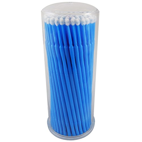 ATLIN Touch Up Paint Brushes, 100 Pack of 2.5mm Disposable Micro Applicators for Automotive Paint Chip Repair