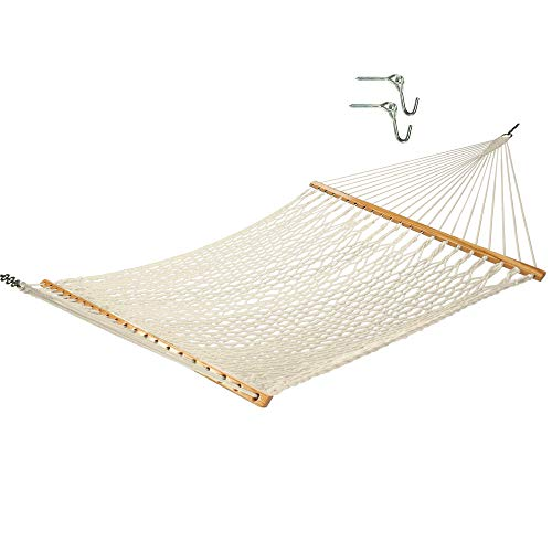 Castaway Hammocks 13 ft. Traditional Cotton Rope Hammock with Free Hanging Hardware