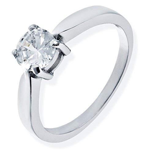 SARA & KATE Damen Ring 925er Sterling Silber Echtschmuck mit Geschenkbox (Größe M = 56 mm)