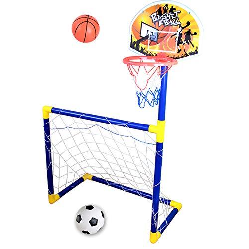 SHEHUIREN 2 En 1 Juego De Soporte De Baloncesto Y Fútbol, Juego...