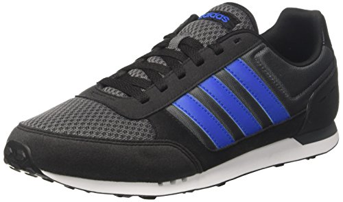 adidas Neo City Racer, Zapatillas de Gimnasia para Hombre, Negro (Grey Five/Blue/Core Black), 40 2/3 EU