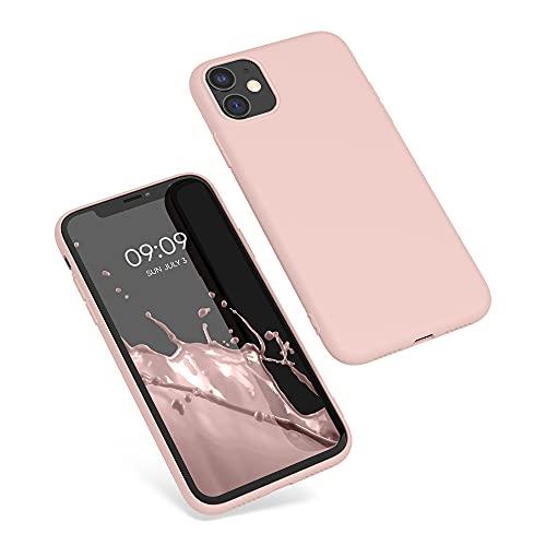 kwmobile Cover Compatibile con Apple iPhone 11 - Custodia in Silicone TPU - Backcover Protezione Posteriore- Oro Rosa Matt