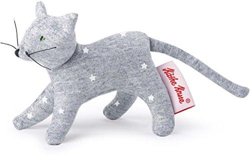 Käthe Kruse 0178372 Mini Greifling Katze, Sterne grau