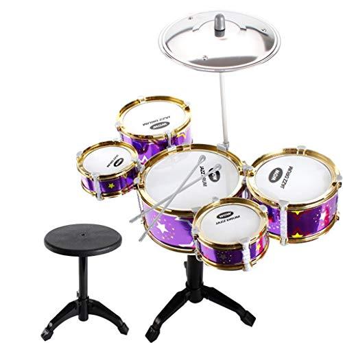 Igemy Schlagzeug Musikspielzeug Lernspielzeug Kinderbildung Toy Model Scenes Set (Violett)