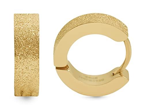 Akzent Pendientes de aro de acero inoxidable para mujer en color dorado.