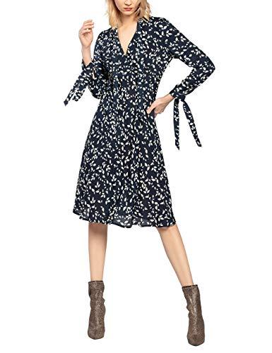 APART Damen Kleid mit Blätter-Print