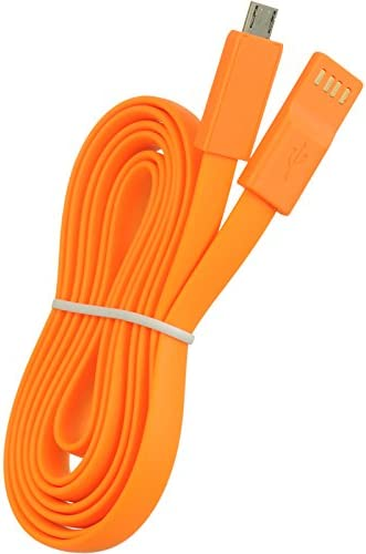 DreamWireless DCMUSBNDOR Micro USB 48 in Noodle Flat Data Cable Orange product image