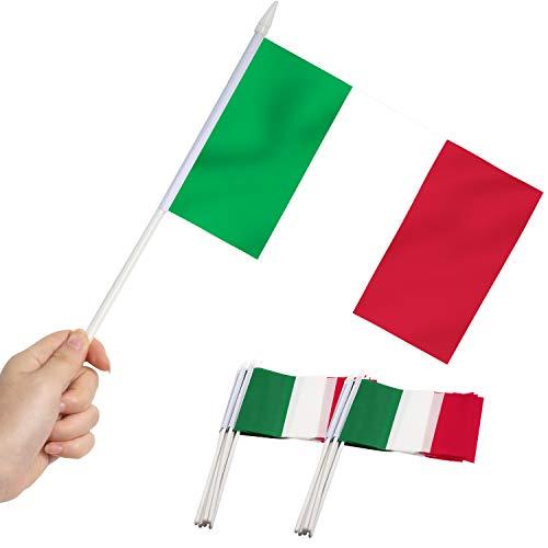 Anley Italienische 5x8 Zoll Handgehaltene Mini-Flagge mit 12