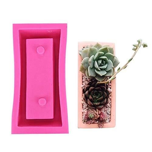 Stampo in silicone trasparente acqua calcestruzzo cemento rettangolare vaso di fiori sapone stampo in silicone stampi da forno stampi candela fai da te Soap making