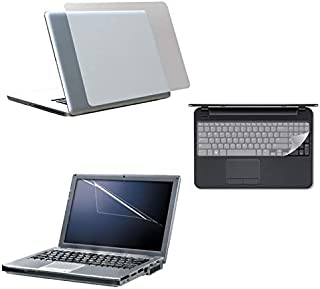 Trands 3 in 1 Laptop Protection Pack With Screen Protection, Transparent Laptop Skin and Keyboard Skin