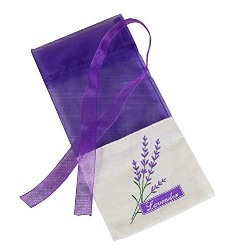 VOSAREA Lavendel Beutel Leere Duft Lavendelsäckchen mit Kordelzug Sack Duftsäckchen 30 Stück (Lila)