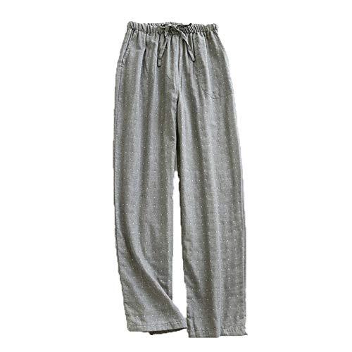 Pijamas De Pareja Pantalones Finos De Gasa De AlgodóN De Verano para Mujer Que Se Pueden Usar Fuera De La Primavera Y El OtoñO Pantalones Casuales Sueltos De Gran TamañO para Hombres