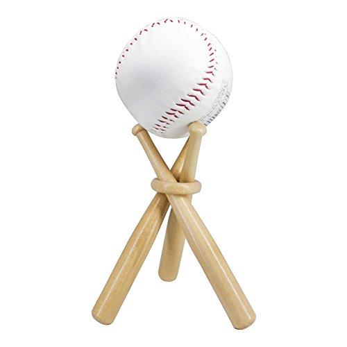 TAPBULL Wooden Baseball Display Stand Holder -Consists of 3 Mini Baseball Bat (1)
