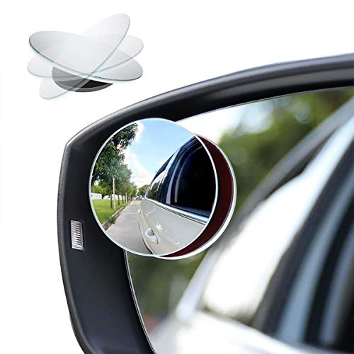 Car Blind Spot Mirror, 2' Round HD Glass Frameless Convex Rear View Mirror with...