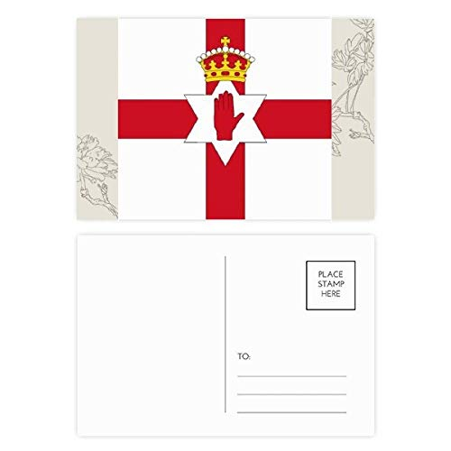 DIYthinker Noord-Ierland Nationale Vlag Europa Land Bloem Postkaart Set Thanks Card Mailing Zijkant 20 stks 5.7 inch x 3.8 inch Multi kleuren