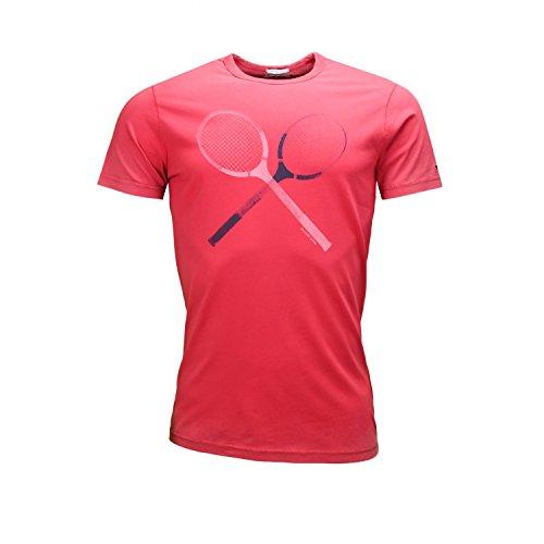 Hilfiger Denim Cotton GMD Tee s/s 30 T-Shirt, Rouge (Chili Pepper Pt), S Femme
