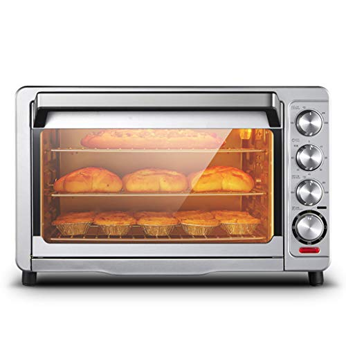 Household Electric Oven 35 Liters Capacity With Multi-Function Hot Air Rotating Fork,5 Layers Of Baking Layer Low Temperature Fermentation,4 Control Knobs Simple Operation