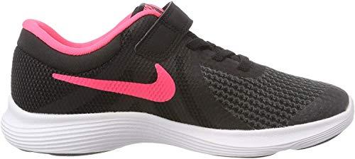 Nike Revolution 4 (PSV), Zapatillas para Niñas, Negro (Black/Racer Pink White 004), 32 EU
