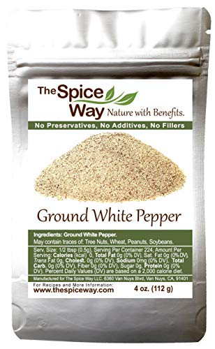 The Spice Way Ground White Pepper - | 4 oz | pure pepper powder