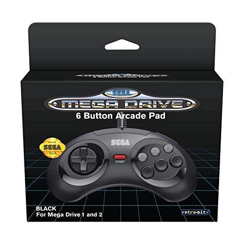 Retro-Bit Sega - MD Mini 6-B USB, Negro [Sega Megadrive 32X]