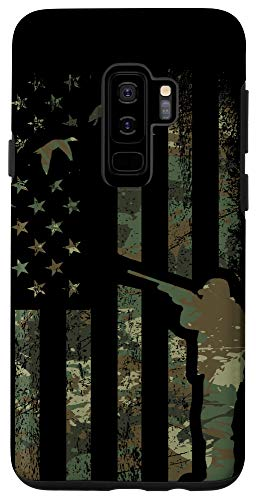 Galaxy S9+ Duck Hunting Phone Case Camo American Flag Hunter Camouflage Case