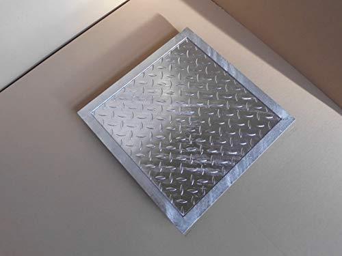 Schachtabdeckung verzinkt befahrbar 50 x 50 cm Tränenblech