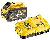 DeWalt DCB547 Batterie XR Flexvolt 9 Ah 18 V/54 V + chargeur rapide DCB118 Jaune