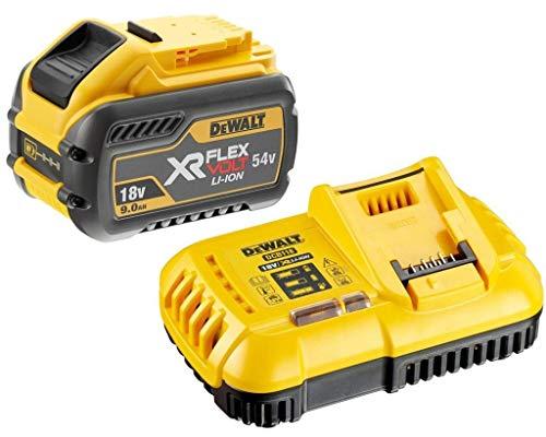 DeWalt DCB547 - Batería XR FLEXVOLT de 18 V y 54 V (9,0 Ah, cargador rápido DCB118), color amarillo