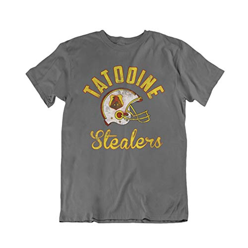 Movie Fan-Art - Tatooine Stealers - Mens Or Womens Cult Film Inspired Organic Cotton T-Shirt (X-Large, Charcoal)