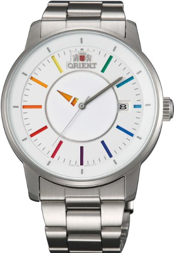 [オリエント時計] 腕時計 スタンダード スタイリッシュ アンド スマート ディスク WHITE RAINBOW 自動巻き WV0821ER シルバー