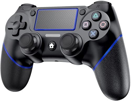 playstation 4 controller Wireless Controller Bluetooth Gamepad mit Dual Vibration Wiederaufladbarer Remote-Sechs-Achsen-Dual Vibration- und Audio Jack Controller p4-Controller (Blau)