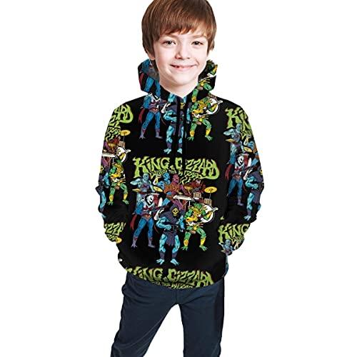 Jungen Kapuzenpullover Christmas King Gizzard and Lizard Wizard Teen Pullover Kapuzen-Sweatshirt mit Taschen Langarm