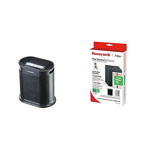 Lowest Prices! Honeywell True HEPA Air Purifier with Allergen Remover-Black, HPA100, Medium Room wit...