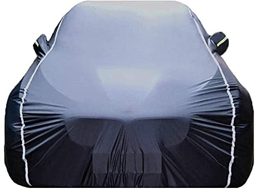 FHKBK Car Cover Compatible with Mercedes-AMG C63/C63 S 2dr Coupe 2020 2021[C205 C206], Waterproof Windproof All Season Car Covers with Storage Bag, Indoor Outdoor-Black