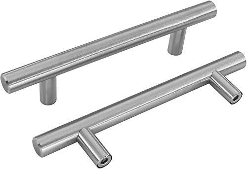 15 maniglie per mobili, in acciaio inox, 160 mm, per armadio, cassetto, porta, porta, LS201BSS160 BA 160 mm, in acciaio inox