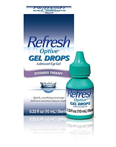 Refresh Optive Gel Drops Lubricant Eye Gel For Dry Eyes, 0.33 Oz Sterile