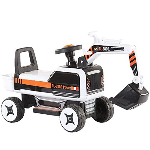 La máquina de gancho de excavación eléctrica para niños grandes puede sentarse en la ingeniería del hombre Scooter Boy Girl Toy Cumple Cumple Cumple Cumple Cumple Chameble Competition Adults Girls par