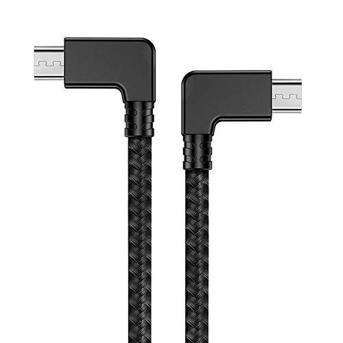 iEago RC Mavic Mini Cavo Micro USB a Micro USB Cavo Dati OTG 29cm Dati Connettore Nylon Intrecciato Trasferimento Video per DJI Mavic Mini / Pro / Spark/ Mavic Air / Mavic 2 Pro / Zoom Telecomando