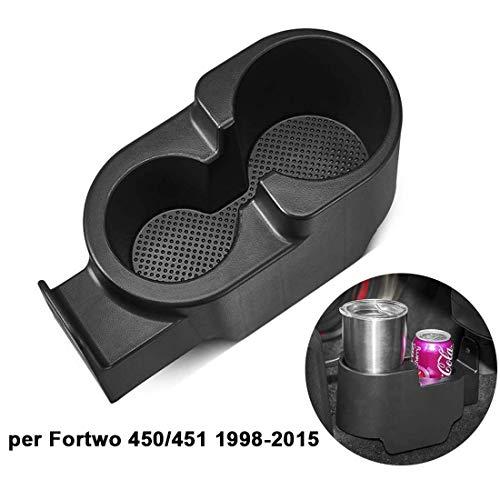 ISSYZONE Portabevande per Fortwo 450/451 1998-2015 Porta Bicchieri Bevande Auto 451 per Tazze Bicchieri e Bottigliette