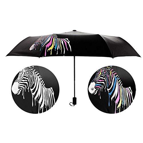 Jingyuu Regenschirm, Farbwechsel, Zebra schwarz Schwarz