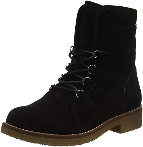 Hush Puppies Damen Milo Biker Boots, Schwarz (Black Black), 40 EU