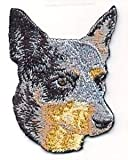 VirVenture 2.75' Australian Cattle Dog Breed Embroidery Patch Great for Hats, Backpacks, and Jackets.