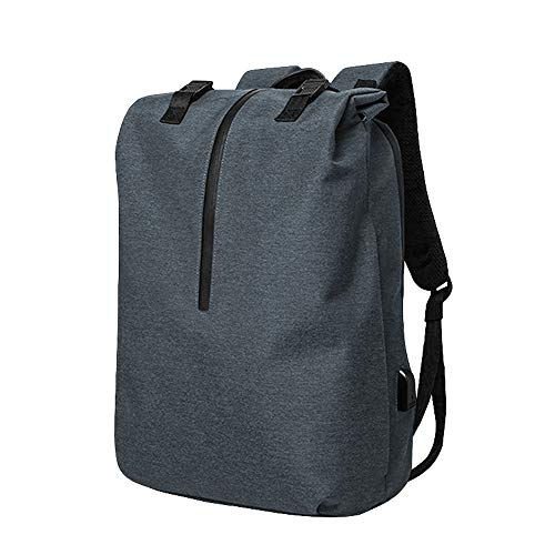 Ang-xj Leisure business Oxford cloth backpack waterproof computer bag multifunctional USB anti-theft backpack waterproof,wear-resistant,anti-theft anti-shock backpack (Color : Blue gray)
