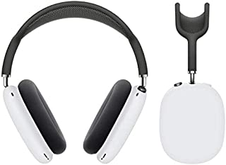 Earpads Cushions Protectors Cover Case,Soft Silicone Ear Pads Cup Compatible with AirPods Max Headphones (White)