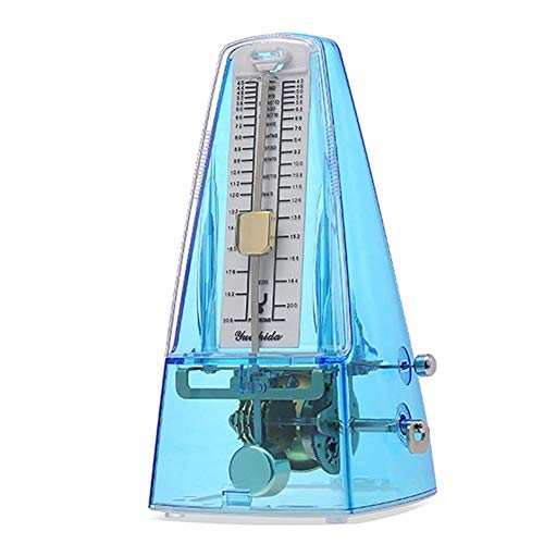 Traditional Mechanical Metronome for Piano High Accuracy Tempo Range 40~208bpm for Musicians Metronome for Guitar Drums/Bass/Track Tempo and Beat Beginners By Elrido (Blue)